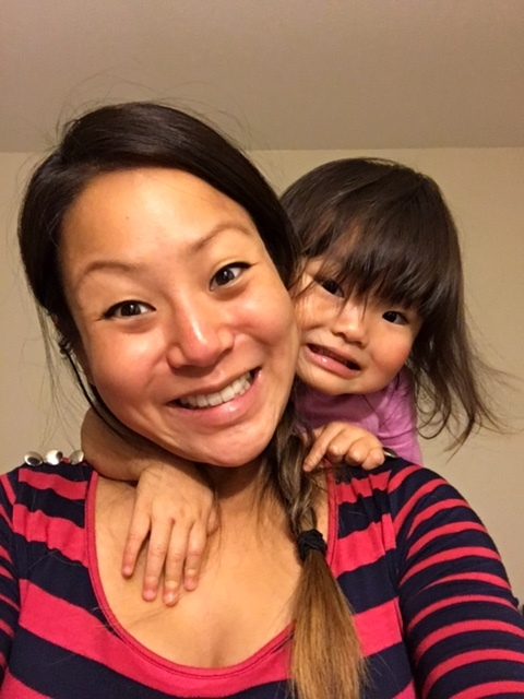 Earlier this week, when I wasn't able to come home until 7:30pm... She greeted me excitedly and took selfies with me.