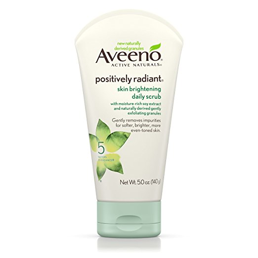 Aveeno Positively Radiant Skin Brightening Daily Scrub- favorite drugstore face wash. (But really, I LOVE all Aveeno products.)