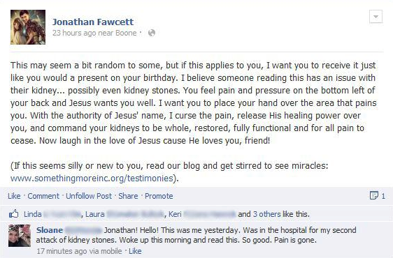 Facebook Healing - Sloane