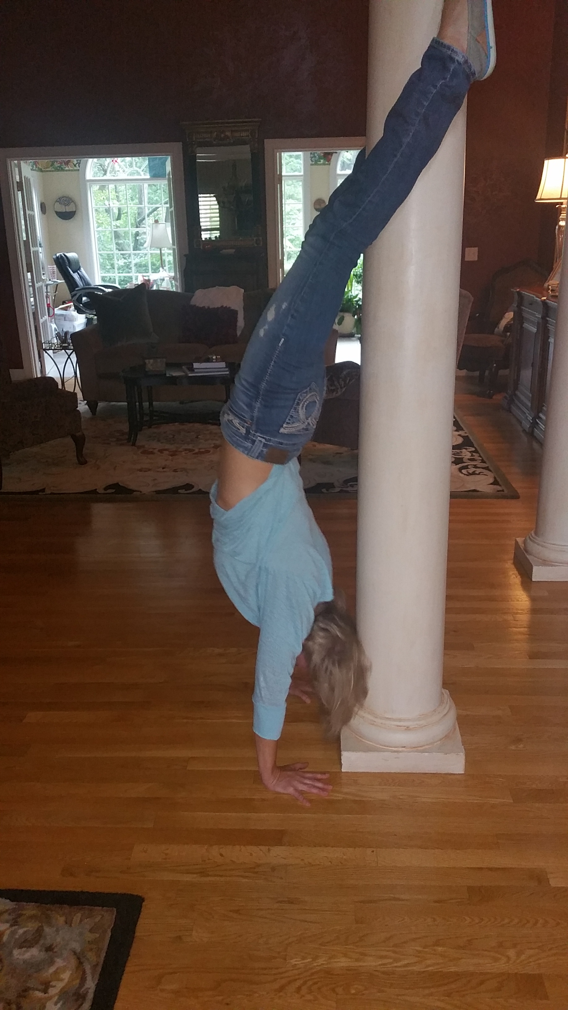 I go upside down to get right inside . . .
