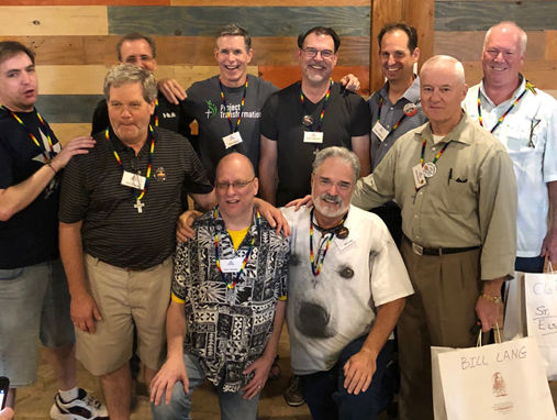 Those in attendance for this year's Emmaus Walk were Gavin Cox, Tony Moore, Alan England, Tony Bolodar, Bill Lang, Matt Gaston, Larry Naeyaert, Wade Anderson, Alan Johnson, and Clay Richmond.