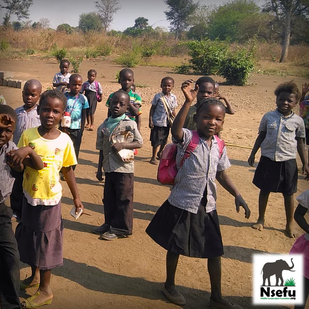 Chabwela School Students greeting visitors!