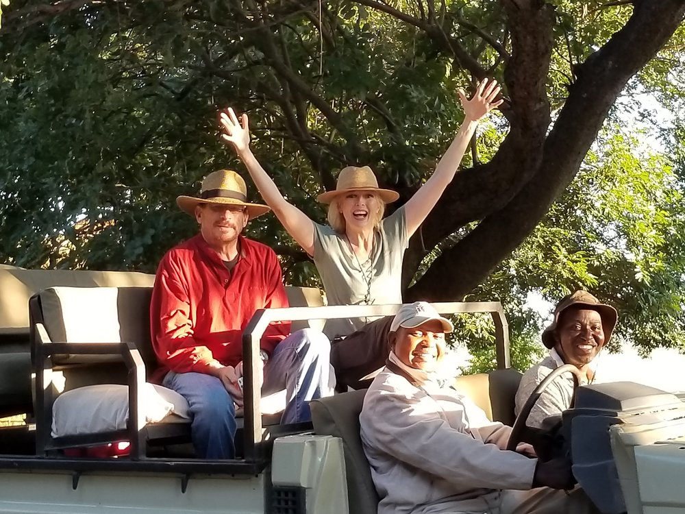 Coe and crew arriving in Zambia!