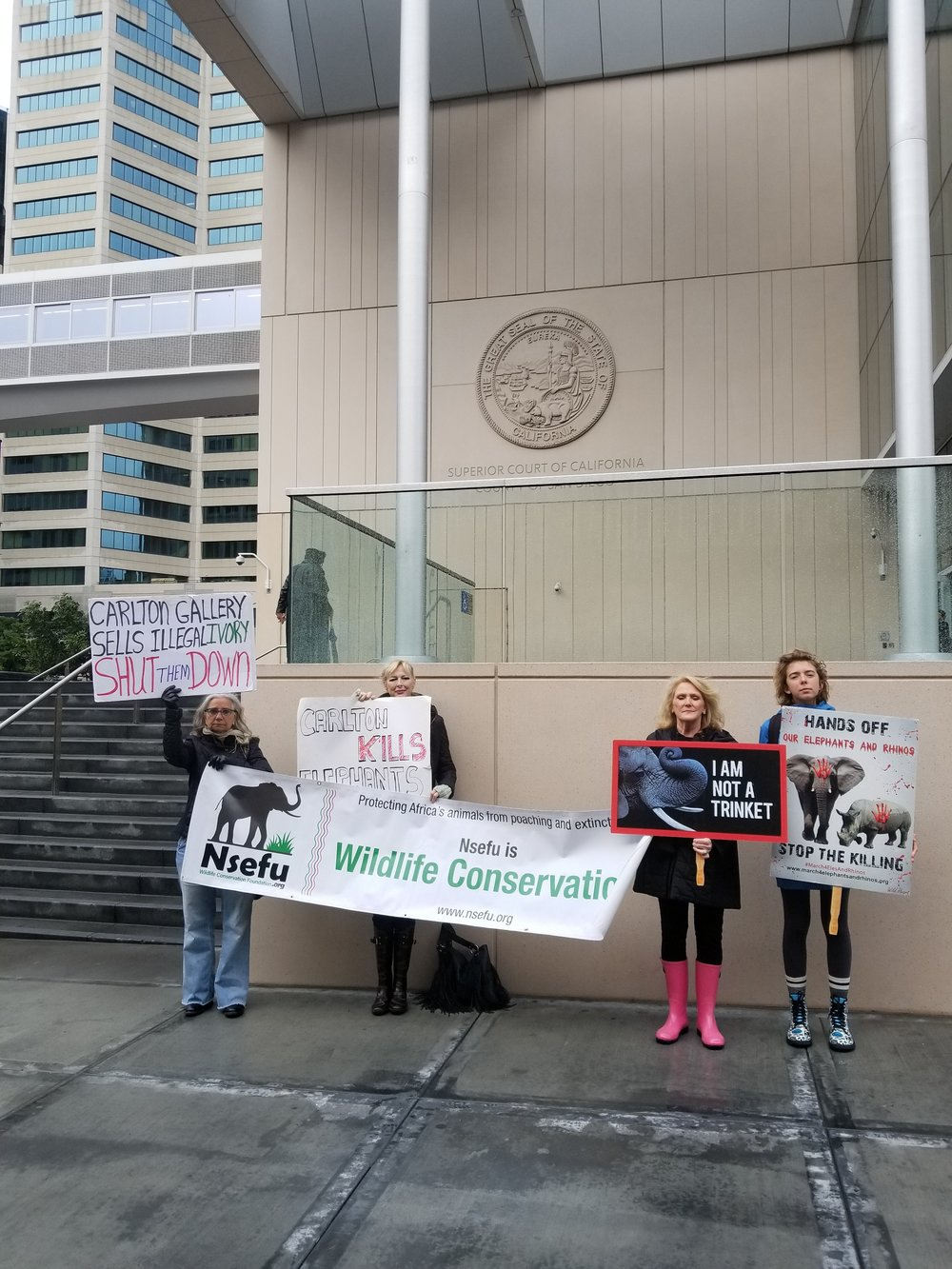 Protest at the courthouse!