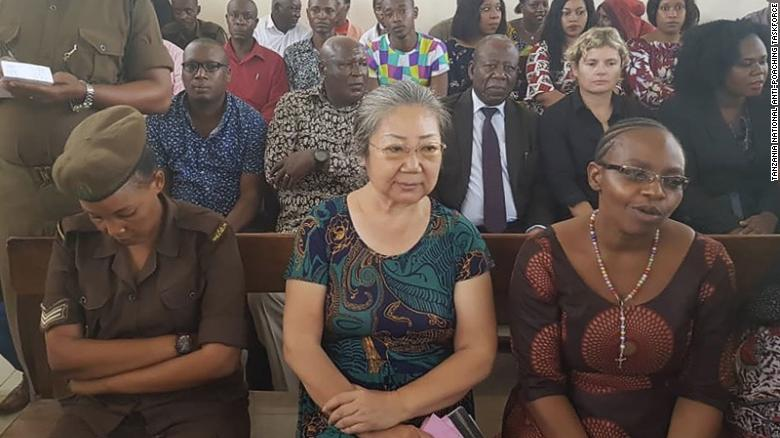 Yang Feng Glan, known as the 'Queen of Ivory,' pictured in a Tanzanian court . Photo: CNN
