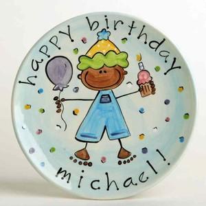 Custom Happy Birthday Cake Plate