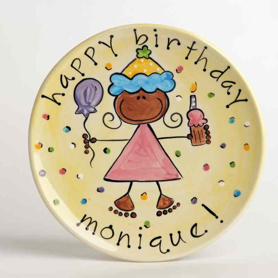 Custom Happy Birthday Cake Plate