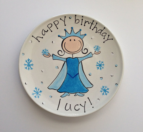 Frozen Theme Custom Birthday Plate & Baby Gifts u2014 An Elegant Affair