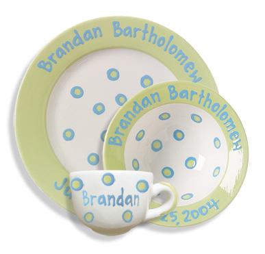 Baby Dot Sweet Pea Green Dish Set  sc 1 st  An Elegant Affair & Childrenu0027s Plate Sets u2014 An Elegant Affair