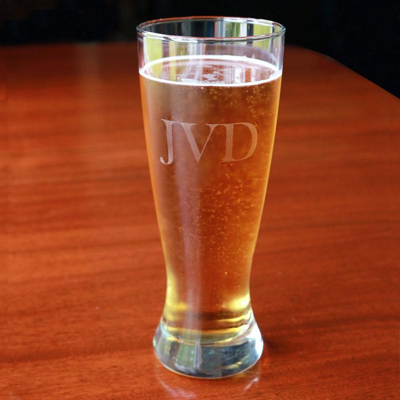 personalized pilsner glass set set of 4 an elegant affair