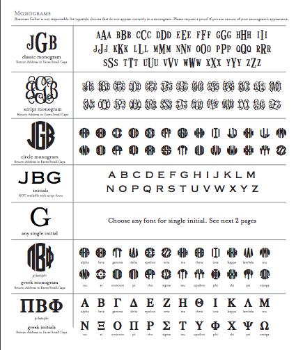 Boatman Geller Monogram Styles
