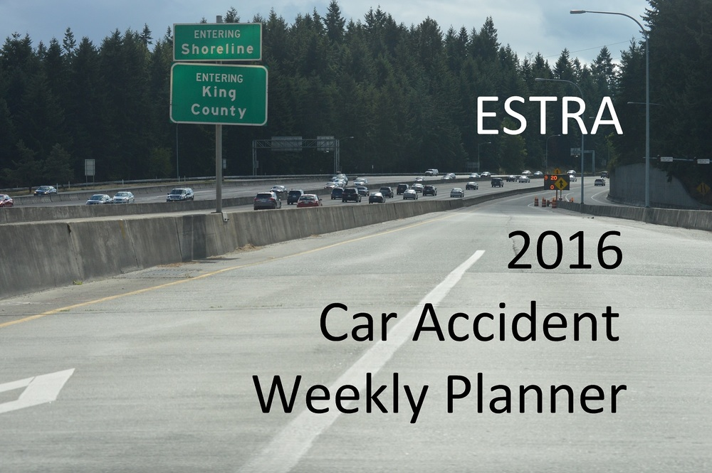 2016 Car Accident Weekly Planner by ESTRA
