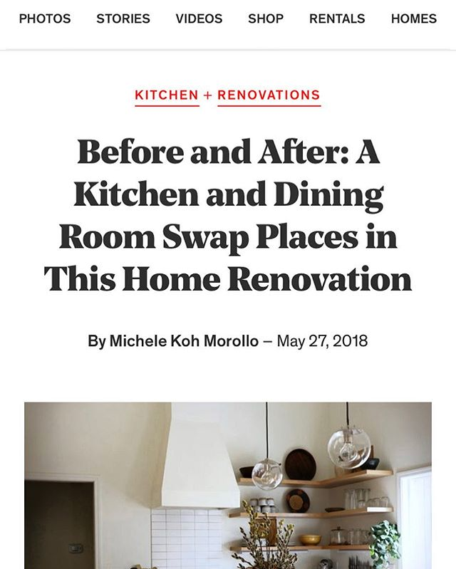 Good morning! Check out this article about a kitchen we had the privilege of building!  Link in bio!