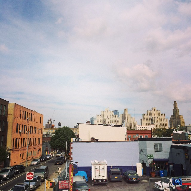 Not much to look at but plenty going on here. On the left, @proteusgowanus gallery;the production stage where FX show The Americans is filmed (I think), starring fine neighbor residing in Boerum Hill just to the north; @retrofret amazing guitars and luthiers, the new Gowanus pumping station, and the Wyckoff Gardens project houses which I never realized took architectural inspiration (albeit crassly) from the Williamsburgh National Savings bank building pictures on the right; Thomas Greene park, which is now under consideration to house sewage tanks apparently. #gowanus #shouldbemixing #ladylambsecondrecord