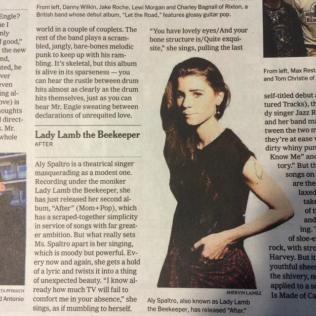 Hey! lil @ladylambjams album review in the nytimes