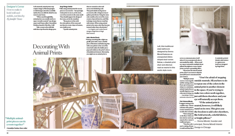 Mansion Global: Decorating with Animal Prints — Donna Mondi Interior ...