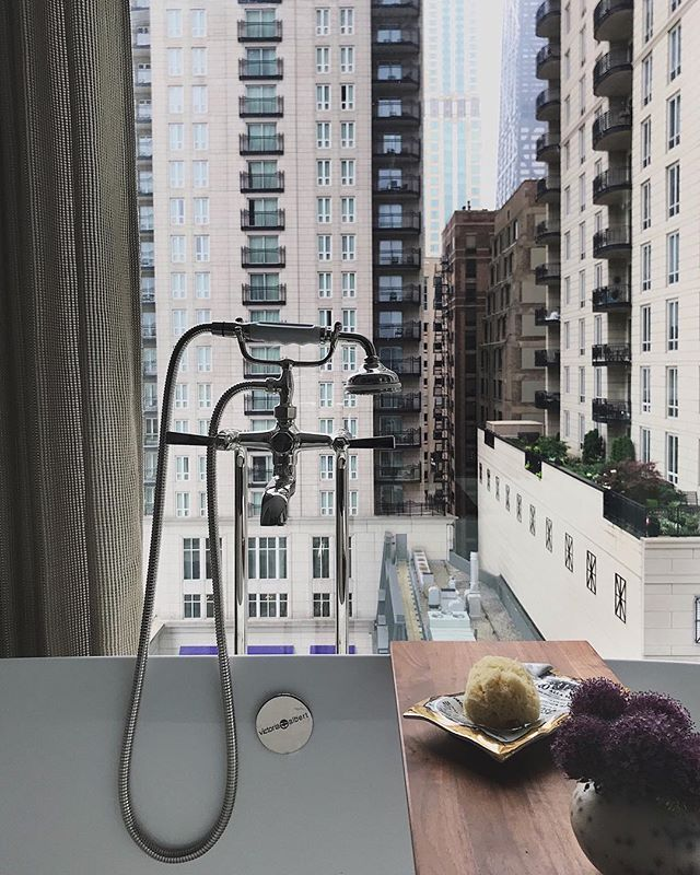 Breathtaking city views, a gorgeous plumbing fixture, and carefully curated accessories #views #pinchme #sitbackandrelax #no9walton #clientproject