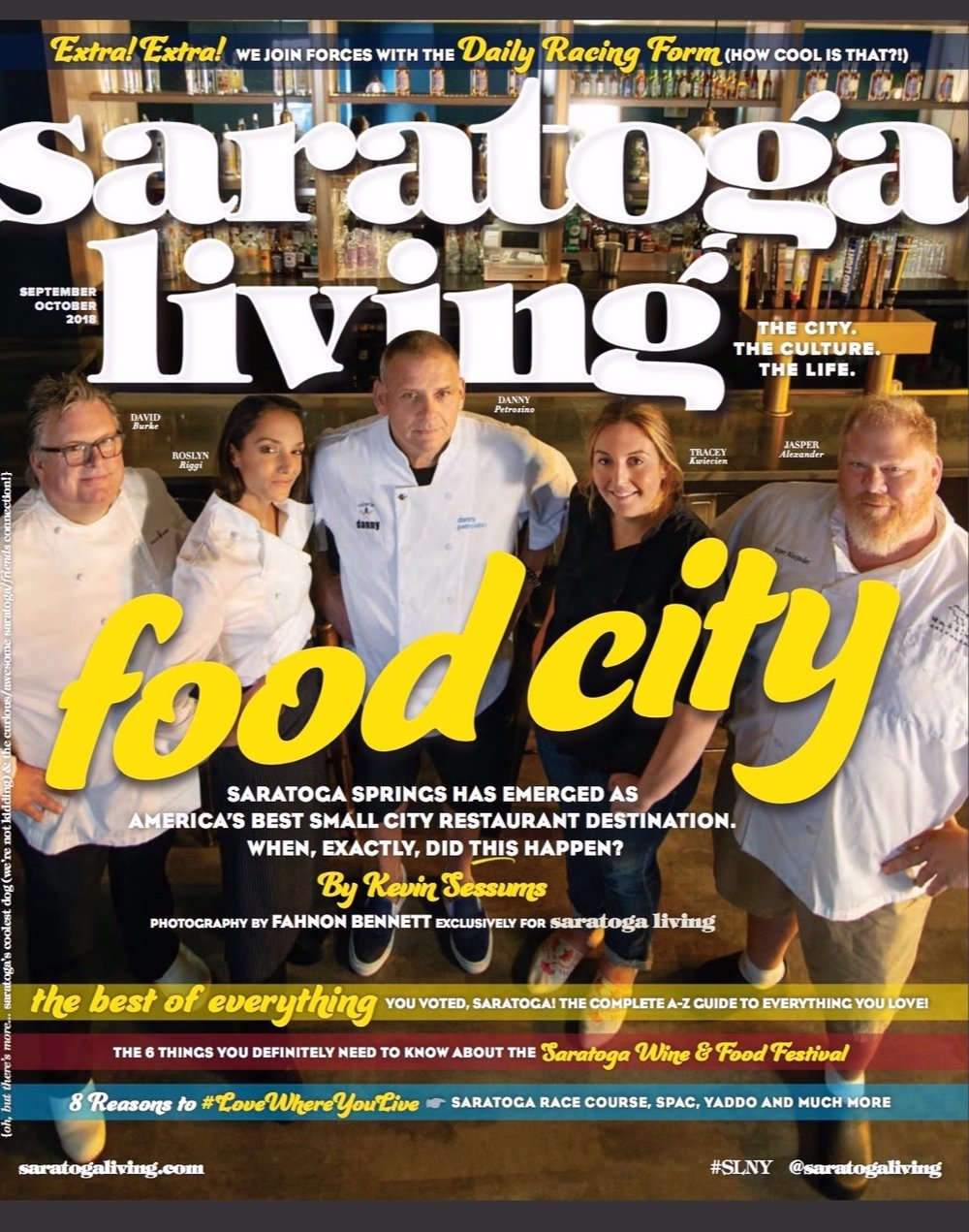 Saratoga Living crafts a masterful feature article on how Saratoga Springs suddenly emerged as America's best small city restaurant destination.