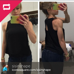 sculpted arms periscope dressing room selfie