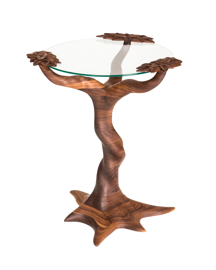 Tree Table X, black walnut, 2017