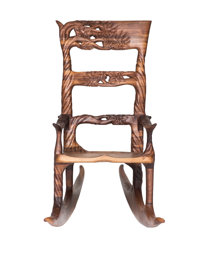 Tree Rocker Concept, black walnut, 2017