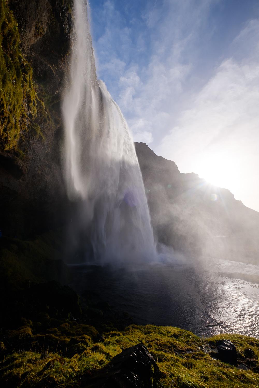 Backlit Seljalandsfoss