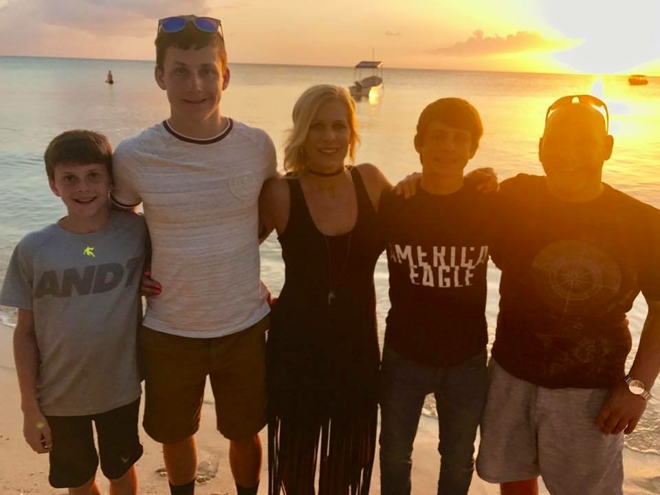 family on the beach Cozumel   2017.JPG