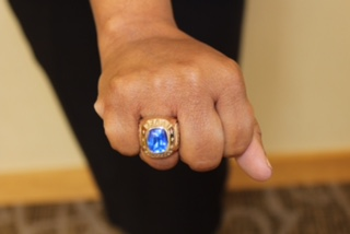 greg and carla scott receive their presidential sapphire rings