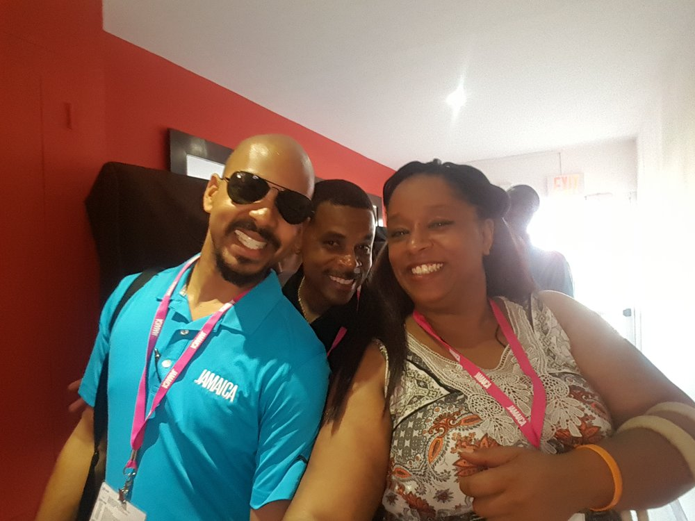Myself, another agent and our Jamaica Travel Board Specialist during a site visit in Kingston