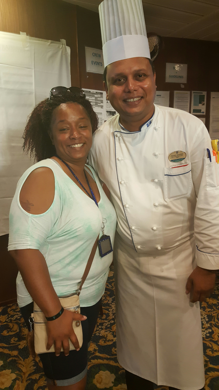 Me and the Executive Chef on the RCCL Independence after a Captain's Brunch and Alley tour