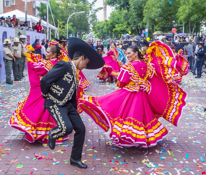 Mexican folk dance is a blend of European, African, and Indigenous heritage.