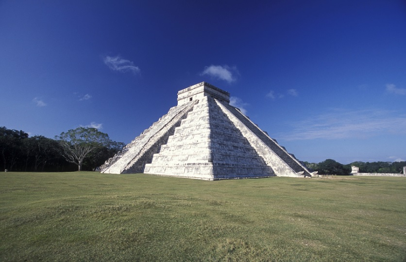 The Chichén Itzá Pyramid in Mexico was named one of the new Seven Wonders of the World