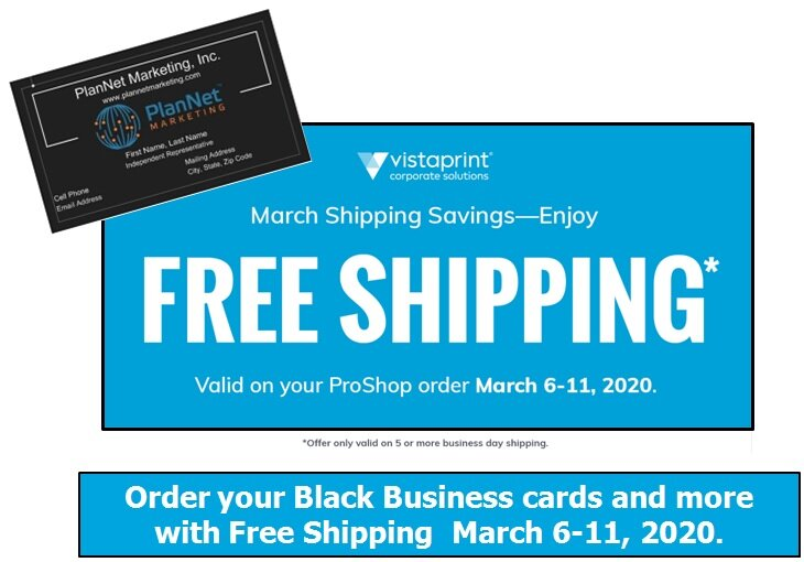 Vistaprint Offers Free Shipping Plannetnow