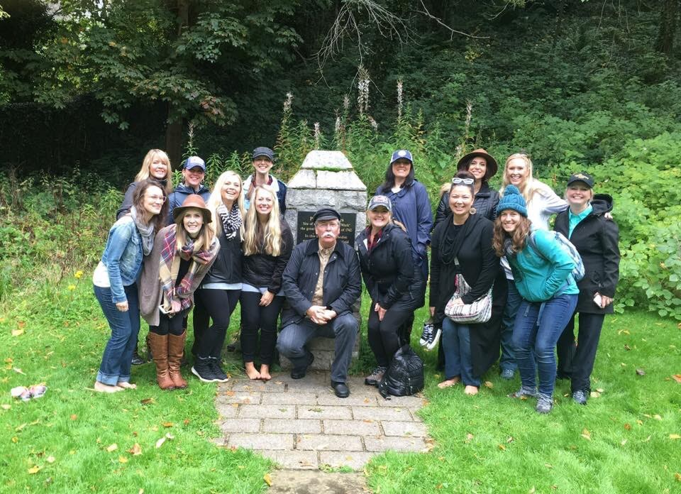 Songs of Scotland Team with Ray Hughes at Cambuslang Park. It was in this place that George Whitfield led congregations of many thousands in prayer and worship during the revival of 1742.