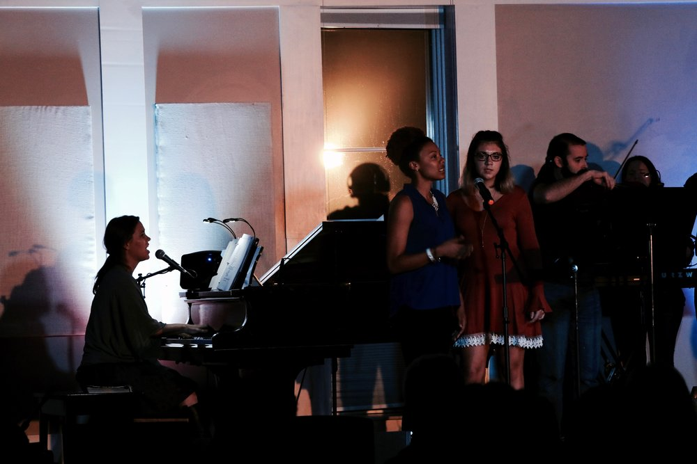"Brittany and Yemaya join in to lead the song ""Seal"" from the album  you are my joy."