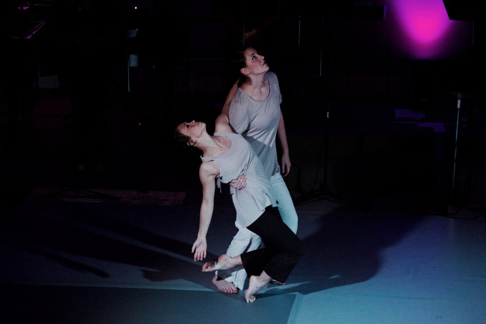 "Dancers Becca Lee and Sarah MIcoch's opening duet in the song ""Help Me"" (from the album  fire in the night)."