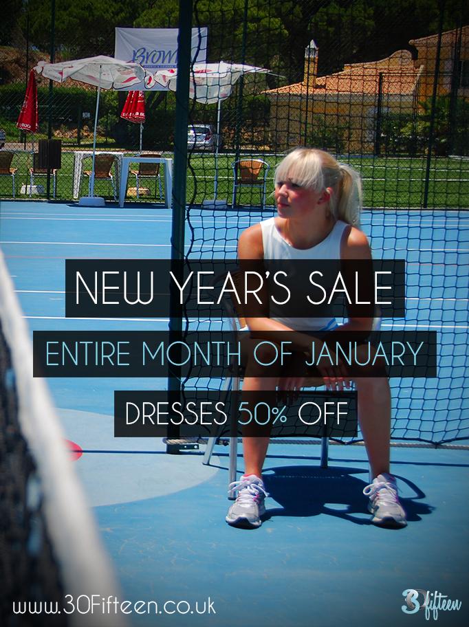 30Fifteen New Year's Sale Tennis Apparel