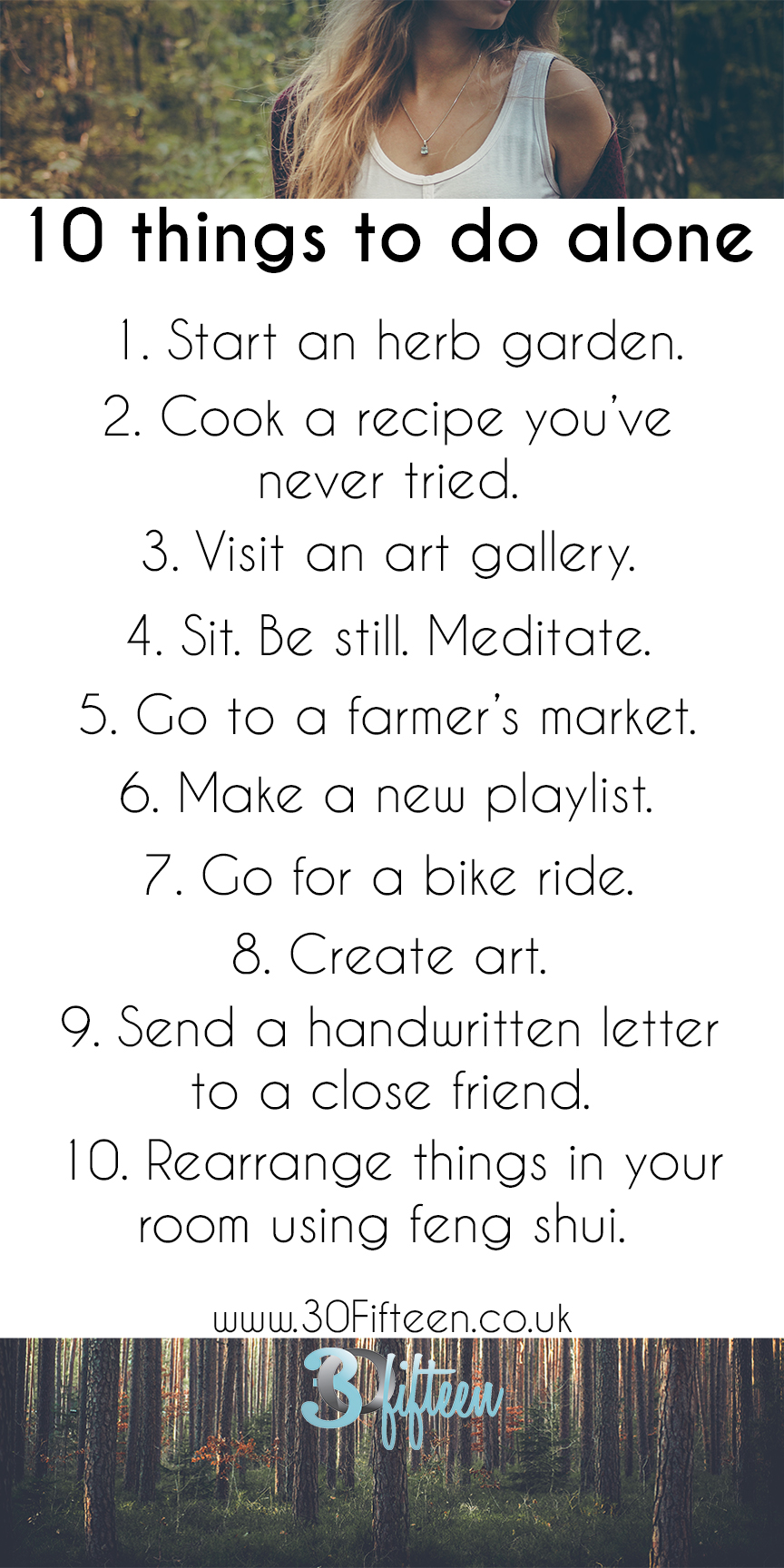 30Fifteen things to do when you're all alone
