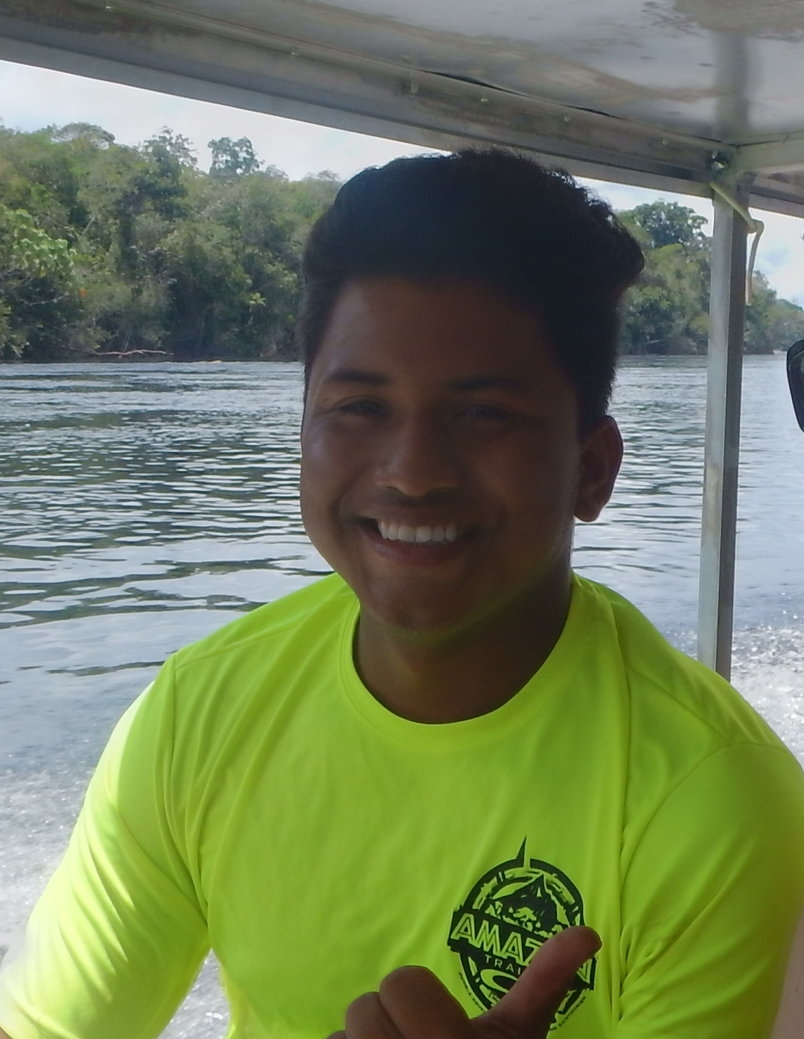 """Anderson """"Bruno"""" - Boat DriverPerhaps one of the best navigators on the Black River. Anderson grew up on the river and apparently has a GPS built into his brain - his ability to navigate and know where each rock is located is uncanny."""
