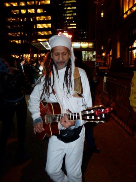 Fantuzzi in white for peace, Occupying Wall St, Oct 2011.jpg