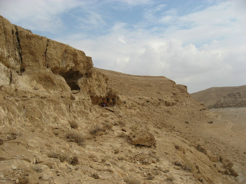 Cliff-face sleeping site in the Negev.JPG