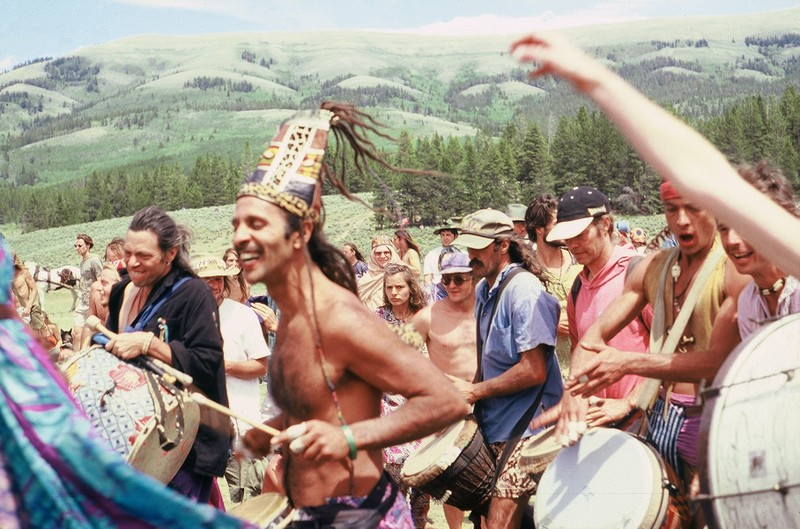 Fantuzzi drumming the way at 1994 Wyoming Rainbow Gathering.jpg