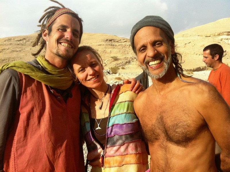 Fantuzzi, Kat, Alon Mor at rainbow in Israel.jpg