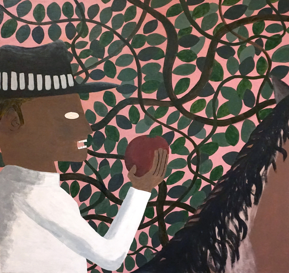 """Man With Hat Eating Fruit"""