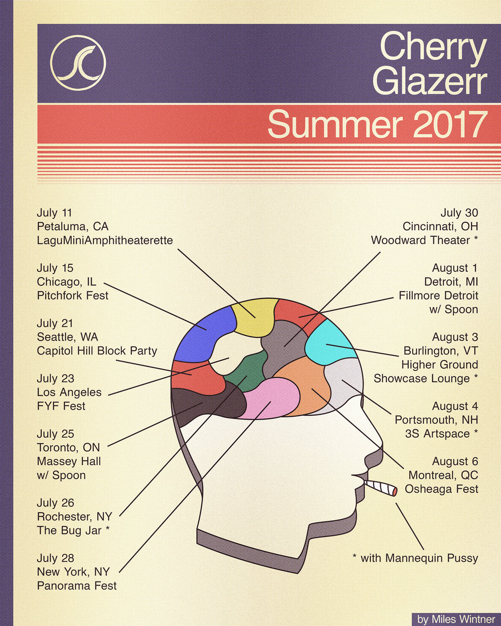 Tour poster for Cherry Glazerr
