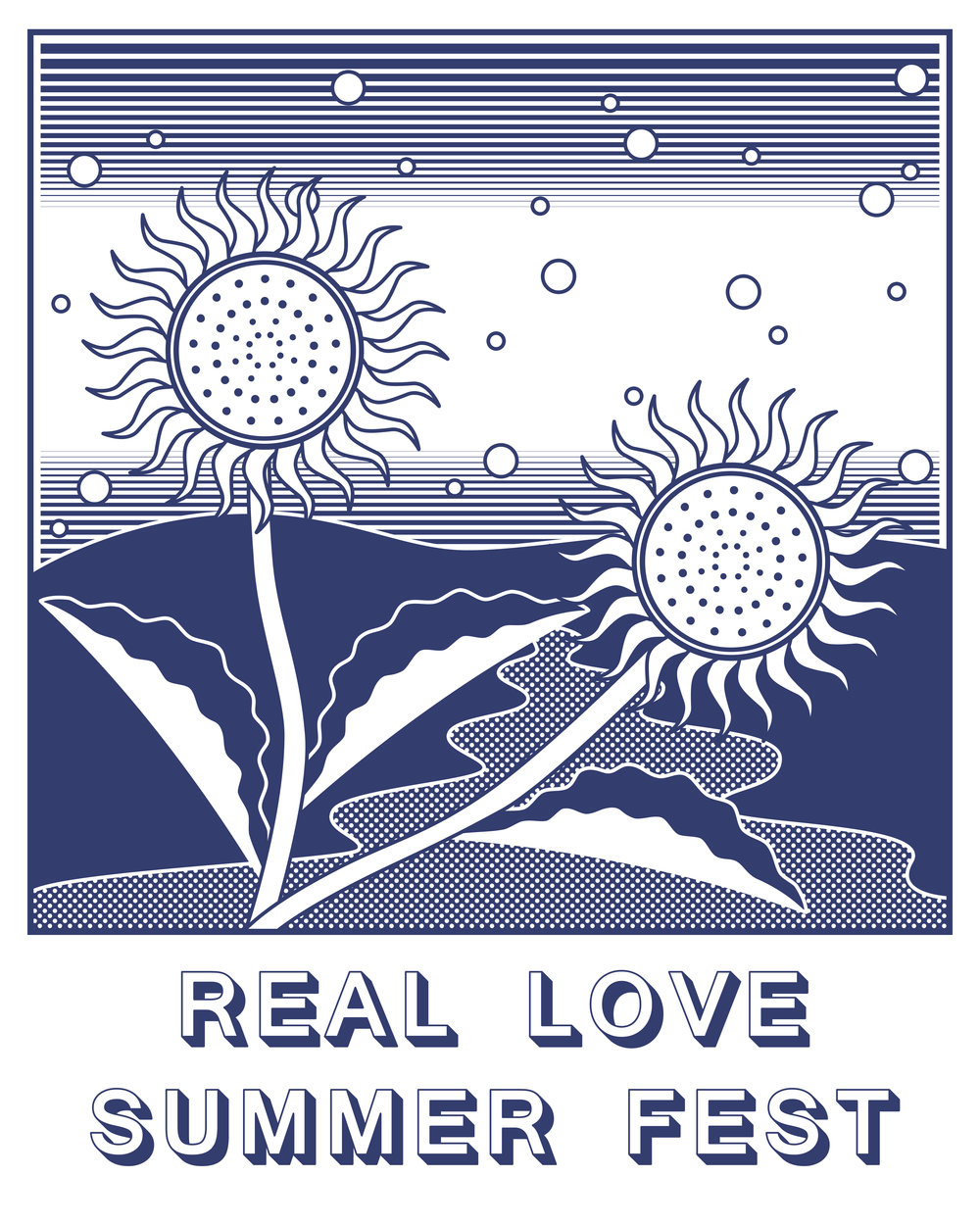 T-shirt design for Real Love Summer Fest