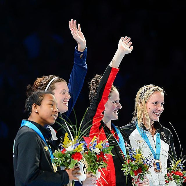Girls Relay!  @missyfranklin88  @swimhardy @arschmitty  @swimone13  #2012swimtrials #swimpictures. @adidas_swim @speedousa