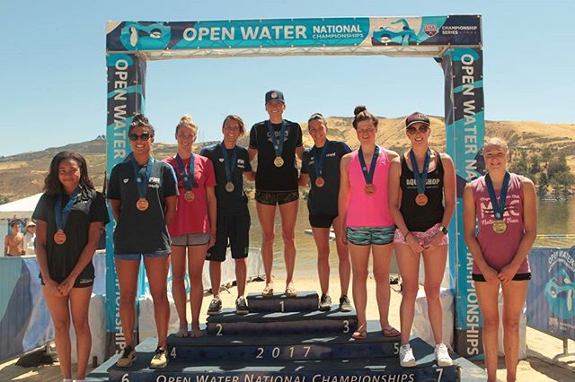Womens Open Water Nationals 5K winners.  #ownats #openwaterswim
