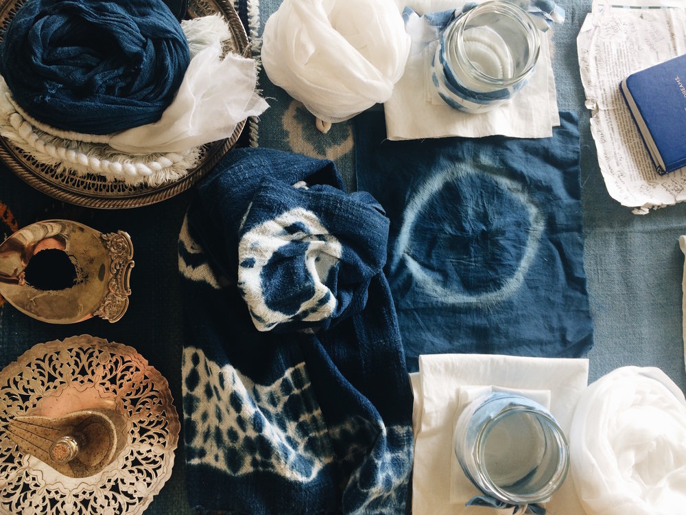 Plastic Free Indigo workshop with  Victoria Larnach  and  Kate Nelson/Plastic Free Mermaid