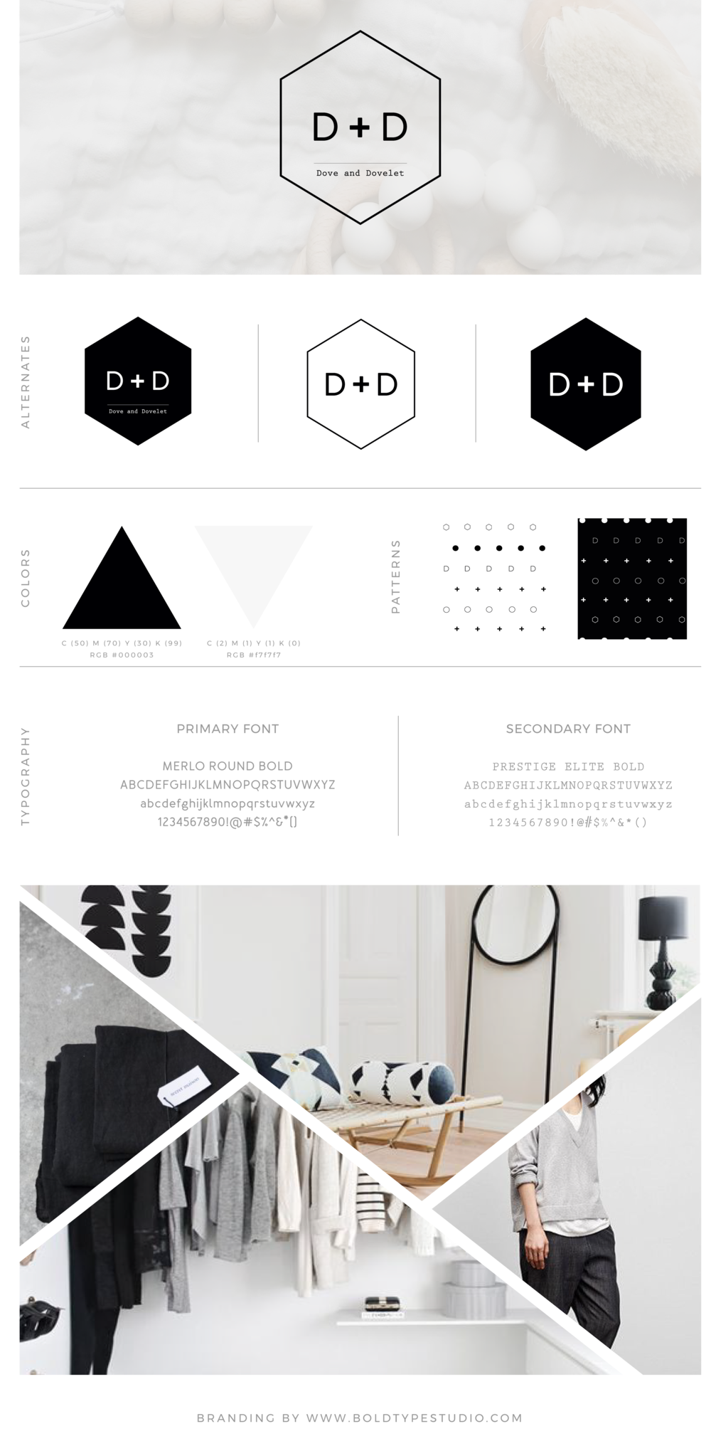 Brand Style Guide for Dove & Dovelet - an online shop for conscious functional design based in Australia